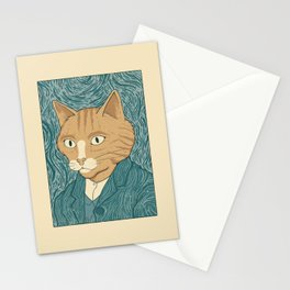 Cat Gogh Stationery Cards