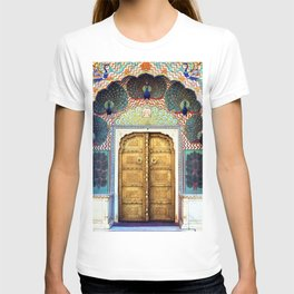 India Palace Ornate Gold Doorway with Peacocks Photograph T-shirt