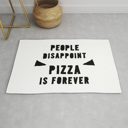 PIZZA IS FOREVER Rug