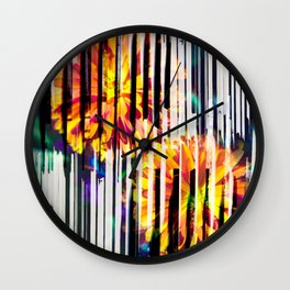 Floral Keys [orange] Wall Clock