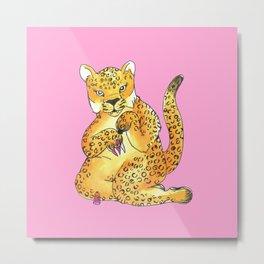 jaguar painting nails Metal Print