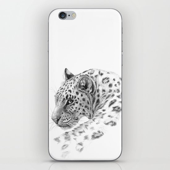 Leopard - Glance back iPhone & iPod Skin