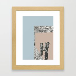 Refugees Welcome Framed Art Print