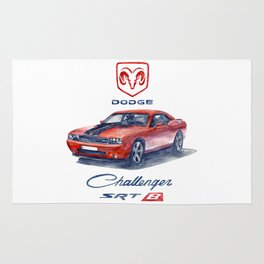 dodge challenger srt 8 Rug