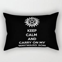 Keep Calm and Carry On: Supernatural Rectangular Pillow