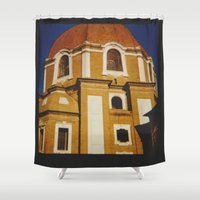 florence Shower Curtains featuring From Florence by FranArt