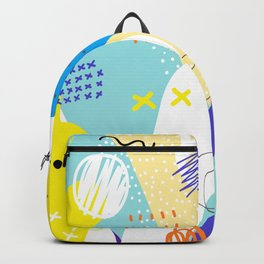 Abstract colorful shapes cool modern composition Backpack