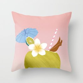 Lime in the Coconut Throw Pillow