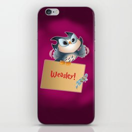 Pigwidgeon a replacement owl iPhone Skin