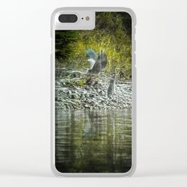 Herons 2 Clear iPhone Case