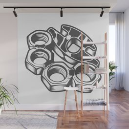 "Fashion Modern Design Print ""Brass Knuckles""! Rap, Hip Hop, Rock style and more Wall Mural"