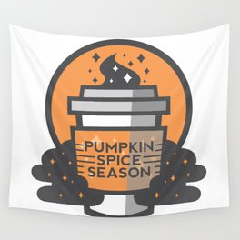 Pumkin Spice Season Wall Tapestry