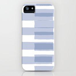 Big Stripes in Light Blue iPhone Case