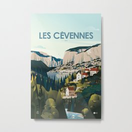 Alone in Nature - Les Cévennes Metal Print