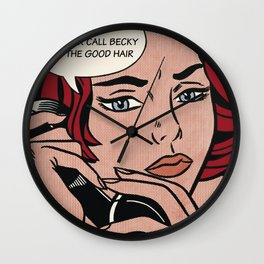 Bey Pop Art: Becky With The Good Hair Wall Clock
