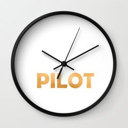 Keep Calm And Let The Pilot Handle It - Pilots Retirement graphic Wall Clock