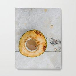 Marble Coconut Metal Print