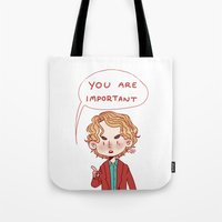 enjolras Tote Bags featuring Enjolras Reminder by Antisepticbandaid