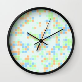 Colored Pool Squares Wall Clock