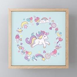 Unicorn Dreams Framed Mini Art Print