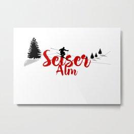 Ski at Seiser Alm Metal Print