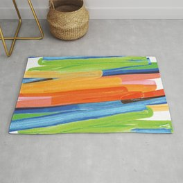 Color yellow red blue green Rug