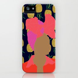 Pineapple Bawse Babe (Blue) iPhone Case