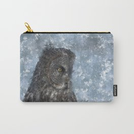 Contemplation - Great Grey Owl Portrait Carry-All Pouch