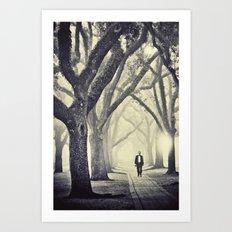 in restless dreams he walked alone Art Print