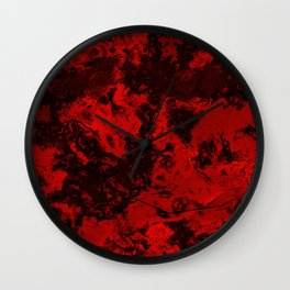Galaxy in Red Wall Clock