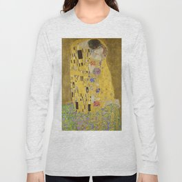 The Kiss by Gustav Klimt Long Sleeve T-shirt