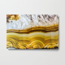 Amber Honey Agate Earth Metal Print