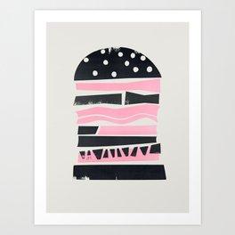 Big Burger Yum Art Print