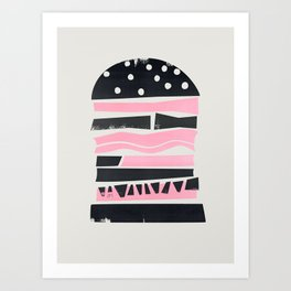 Big Burger Yum Art Print