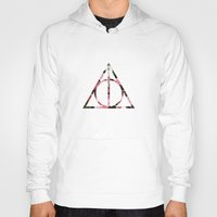 deathly hallows Hoodies featuring The Girly & Deathly Hallows by Enyalie