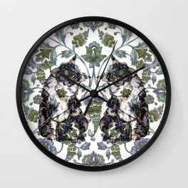 Grimalkin Twins Wall Clock
