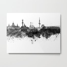 Hannover skyline in black watercolor Metal Print
