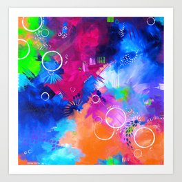 Scrap Paint 1 - Colorful abstract art Art Print