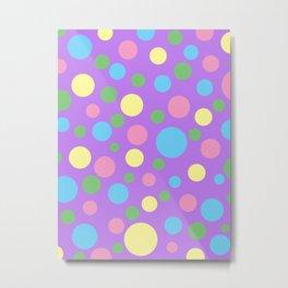 Colorful circles pattern Metal Print
