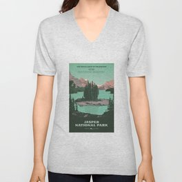 Jasper National Park Poster Unisex V-Neck