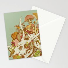 skulls in spring Stationery Cards