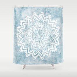 LIGHT BLUE MANDALA SAVANAH Shower Curtain