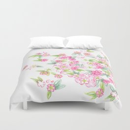 Martha's Flowers Duvet Cover