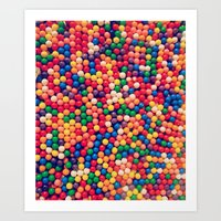 gumball Art Prints featuring Gumball Pop by WayfarerPrints