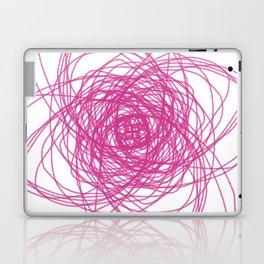 Design mandala PINK ON WHITE Laptop & iPad Skin