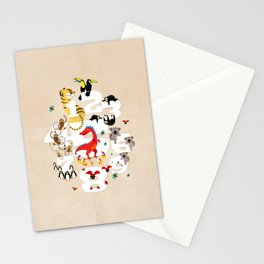 One Two Three Animals in the Kids Room – Illustration for boys and girls Stationery Cards