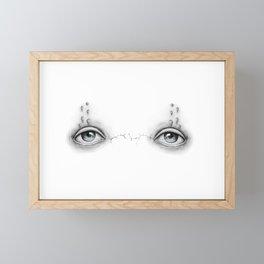 Cracks between eyes Framed Mini Art Print