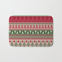 Pine Tree Ugly Sweater Bath Mat