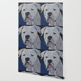 The Dogo Argentino dog art portrait from an original painting by L.A.Shepard Wallpaper