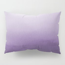 Inspired by Pantone Chive Blossom Purple 18-3634 Watercolor Abstract Art Pillow Sham